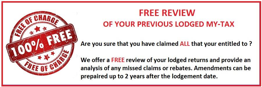 FREE Review of you Previous Lodged My-Tax Return
